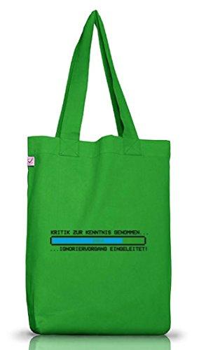 Stoffbeutel Earth Positive mit Kritik zur Kenntnis genommen Motiv Premium, Größe: onesize,Kelly Green (Lehrer-einkaufstaschen Mit Taschen)