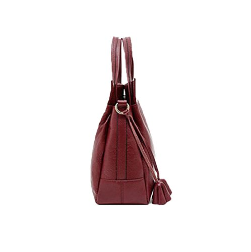 Lederhandtaschen-Schulterbeutel Kurierbeutelhandtaschen-Beutelart Und Weisefreizeit Im Freien Wild Black