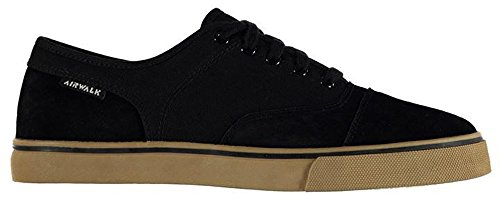 mens-stylish-textured-tempo-canvas-trainers-skate-shoes-9-43-black