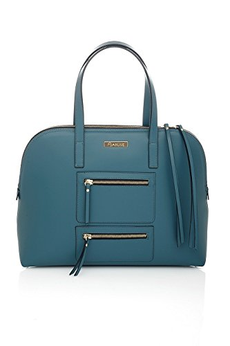 Borsa a Mano da donna in Pelle - Made in Italy Teal Blue