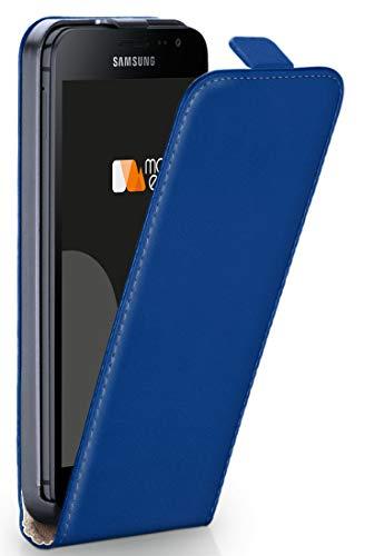 moex® Flip Case mit Magnetverschluss [Rundum-Schutz] passend für Samsung Galaxy Xcover 4 | 360° Handycover aus feinem Premium Kunst-Leder, Dunkel-Blau