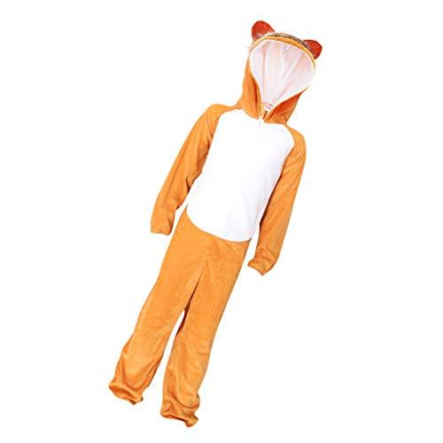 re Kostüme Tieranzüge Cosplay Overall mit Kapuze für Halloween Karneval - Affe, Einheitsgröße ()