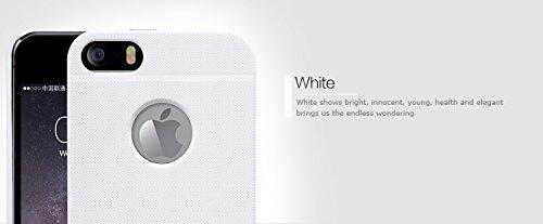 TopAce® Coque de haute qulity de Etui Housse + protecteur d'écran pour Apple iPhone SE(or) Hard Cover-Blanc