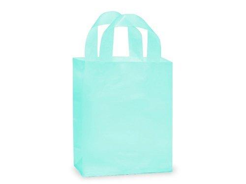CUB AQUA Frosted Plastic BagsBULK Shopping Bags 8 x 4 x 10 1 unit, per unit. by Nas (Tote Metallic-print)