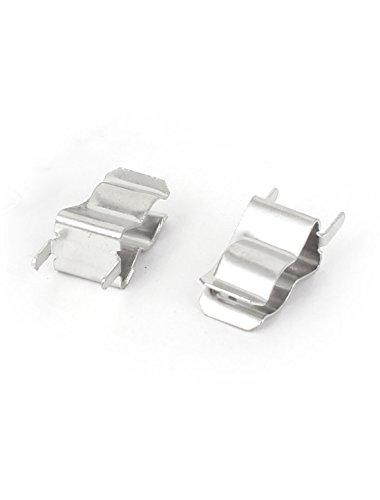 sourcingmap® Clips Pince De Support pour 6mm x 30mm Fusible Couleur Argent 20 Pièces