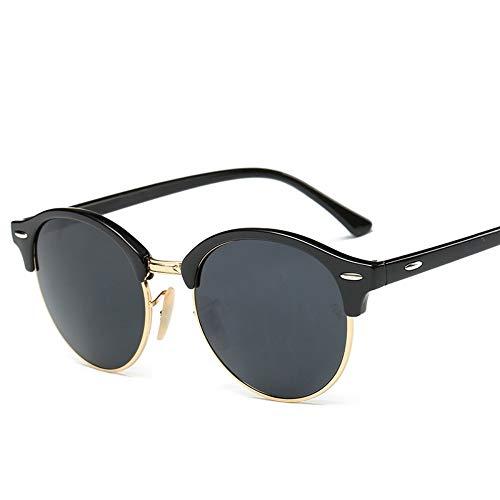 YYXXZZ Sonnenbrillen Hot Rays Sonnenbrille Frauen Männer Sommer Stil Sonnenbrille Rivet Frame Bunte Beschichtung Shades, h