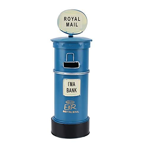 sten Sparschwein Royal Post Box Spartopf Spardose Tischdekoration (blau) ()