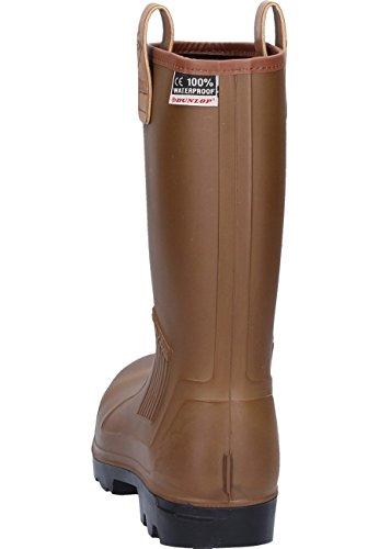 Dunlop S5 C462743 Unisex-Erwachsene Langschaft Gummistiefel Braun