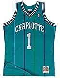 Mitchell & Ness muggsy bogues # 1Charlotte Hornets 1992–93swingman NBA Maillot Turquoise