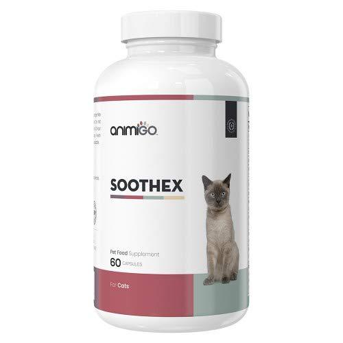 Animigo Soothex für Katzen 60 Kapseln Natürliches Beruhigungsmittel für Katzen