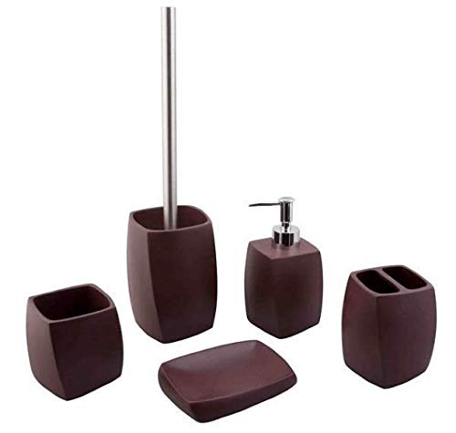 5 tlg. Badezimmer Set Bad Set Bürstenhalter