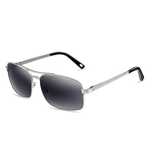 Sonnenbrille Edelstahl-Rahmen Anti-UV polarisierte Sonnenbrille ( farbe : Silver Frame )