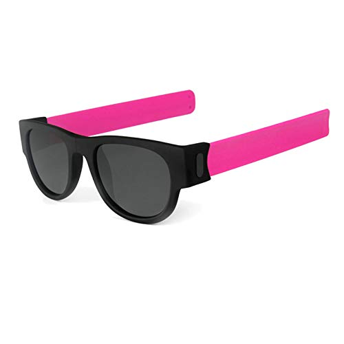Anyeda Sportbrille Sonnenbrille Damen TPU+PC Brille Arbeit Schutzbrille Herren Rosa Rot