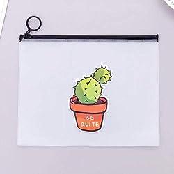 2019 neuankömmling heißer kaktus transparent pvc a5 dateiordner dokumentenablage tasche schreibwaren tasche für schüler kinder federmäppchen box, ein kaktus