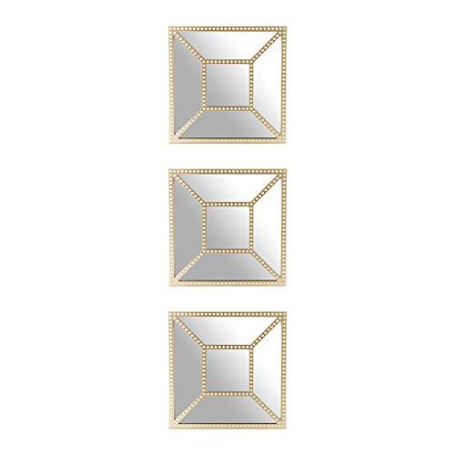 Dibor - French Style Accessories for the Home Set von drei Antik Bronze Wand Spiegel-Eine moderne Ergänzung für jeden Flur-Durchmesser 25cm