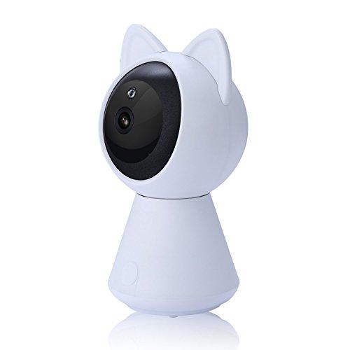 Zzy telecamera ip wireless wifi 1080p hd sistema di videosorveglianza di sicurezza per baby/elder/pet bidirezionale audio e visione notturna (color : bianca)