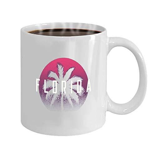 Funny Gifts for Halloween Party Gift Coffee Mug Tea florida miami ocean drive apparel design palm tree