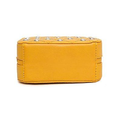 SUNNY KEY-Borsa a tracolla @ Da donna PU (Poliuretano) Per tutte le stagioni Baguette Cerniera Bianco Giallo , yellow yellow