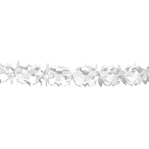 Folat Festliche weiße Papier-Girlande 6 m