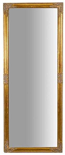 biscottini specchio specchiera da parete con cornice rettangolare in legno finitura oro anticato da appendere verticale/orizzontale, disponibile in varie finiture, misure, modelli e prezzi (oro, l72xpr3xh180 cm)