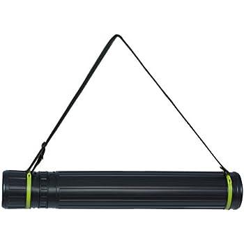 mit Tragegurt bis DIN A0 itenga Zeichenrollenköcher schwarz 60-100cm ausziehbar