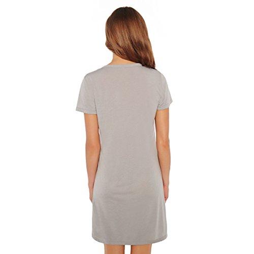 Pomm'poire - Chemise de nuit grise Alexia - Femme Gris