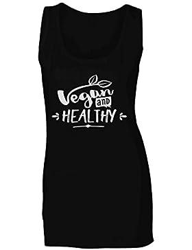 Vegano Y Saludable camiseta sin mangas mujer s430ft