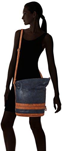 Tamaris Damen Smirne Hobo Bag Schultertasche, 28x15x28 cm Blau (Navy Comb.)