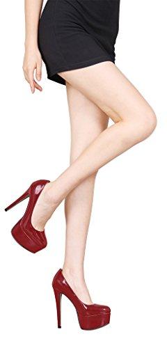 Guoar - Scarpe chiuse Donna (Rotwein)