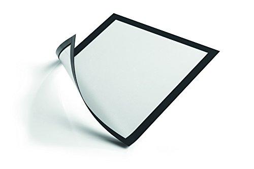 Durable 486901 Info-Rahmen Duraframe Magnetic (A4 Magnetrahmen für metallische Oberflächen) 5 Stück schwarz -