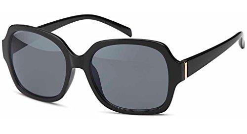 UVprotect große quadratische Damen Sonnenbrille schwarz W72-6