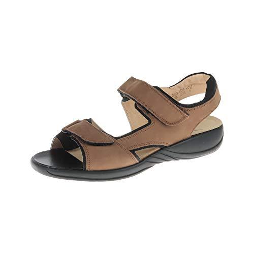 Theresia M. Damen Schuhe Sandale Laura 05 Erde Schwarz 51900004756 (UK 8) - Frauen Erde-schuh-sandalen