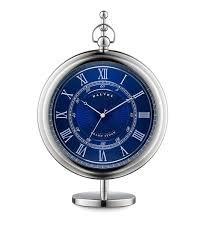 Dalvey Grand Sedan Uhr mit blauem Zifferblatt und Ständer - 19.0000