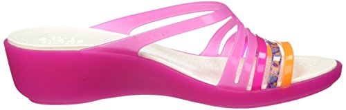 Crocs Isabellaminwdg, Pantofole Donna Rosa (Party Pink/Candy Pink)