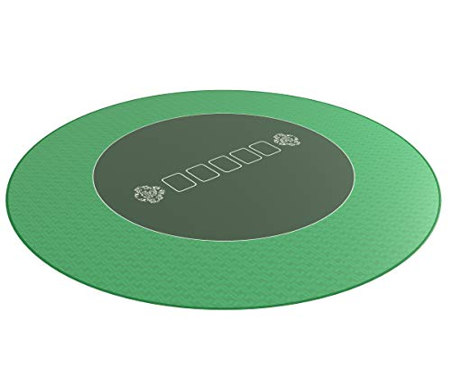 Runde Profi Poker Tischauflage XXL 120cm - Pokertuch - Pokerteppich - Pokermatte