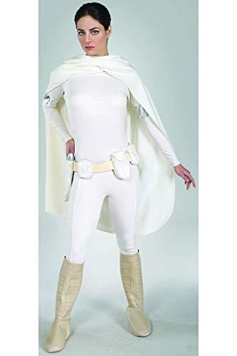 KULTFAKTOR GmbH Star Wars Padme Amidala-Damenkostüm Lizenzware Weiss M (Padme Weiße Kostüm)