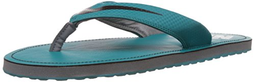 Nike Men's Chroma Thong 4 Radiant Emerald, Black and Cool Grey Rubber Flip-Flops and House Slippers - 8 UK/42.5 EU