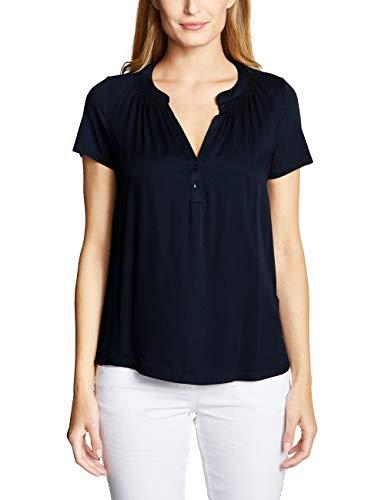 Cecil Damen 313380 T-Shirt, per Pack Blau (Deep Blue 10128), X-Large (Herstellergröße:XL) (Shirt Stickerei)