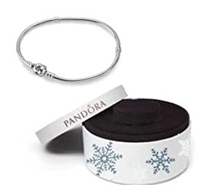 Pandora Sterling Silver 18cm Bracelet with Limited Edition Luxury Christmas Box - 590702HV-18 - Check description to know the right size - Moments Collection - 18 cm - 7.1 inches