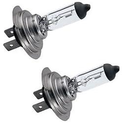 C63® [Lot de 2] (499) H7Premium Ampoules Ampoule halogène pour phare. Haute Puissance 100W Blanc Lumière de Gaz xénon.
