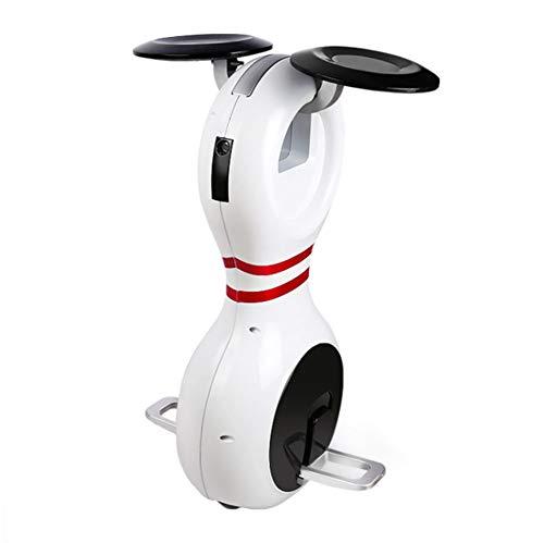 HOPELJ Monociclo Eléctrico, 350W Altavoz Bluetooth, Self Balancing Unicycle Rango de 10 km, Asiento y Pedal Abatibles, Sola Rueda Auto Equilibrio Monociclo Scooter, Blanco