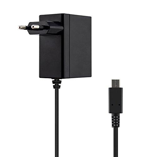 Adaptador de corriente conmutador Nintendo, cargador de interruptor Akmac con cable de alimentación de 5 pies y kit de carga rápida tipo C para Nintendo admite modo de televisión y estación de base 31UwZ8XdqEL