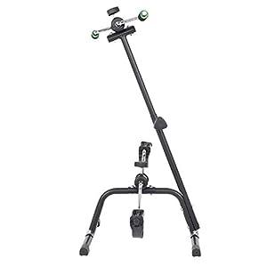 GOTOTOP Mini Bike Cyclette Pedaliera Movimento Allenatore Bici Pedale Regolabile Allenatore Braccio e Gamba Bicicletta Allenamento per Anziani Disabili