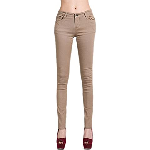 DELEY Mujeres Básica piernas flacas pantalones vaqueros Juniors Jegging