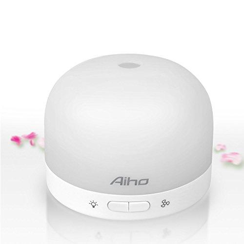 Aiho USB-Diffusore di oli essenziali per aromaterapia, con luce di 7 colori, diffusore di aromi da viaggio per batterie, alimentato AD-P7)