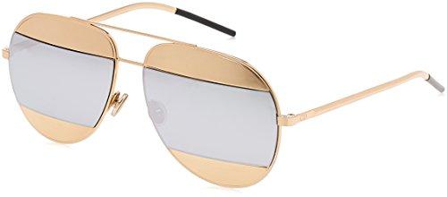 Dior Damen DIORSPLIT1 DC 000 Sonnenbrille, Rose Gold/Extra White Marl, 59