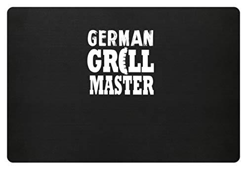 German Grill Master - Deutscher Grillmeister - Wurst, Fleisch, Essen, Männer, Deutsche - Fußmatte -60x40cm-Schwarz