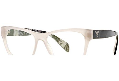 Prada Brillen Für Frau 22S UFH-1O1, Opal Beige Kunststoffgestell, 52mm