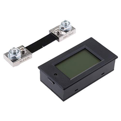 D DOLITY Medidor Digital de Voltaje Corriente Potencia Energía Multiuso Pantalla LCD, 6.5~100V DC, Rango de 0~100A, con Shunt 100A
