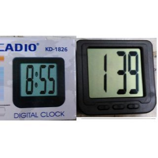Gooseberry Plastic Kadio Car Dashboard Digital Clock,Black